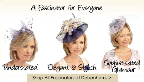 mother of the bride focus on fascinators